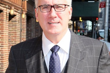 "NEW YORK, NY - SEPTEMBER 11:  Keith Olbermann arrives to ""Late Show with David Letterman"" at Ed Sullivan Theater on September 11, 2013 in New York City.  (Photo by Jeffrey Ufberg/WireImage)"