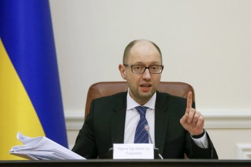Ukraine's Prime Minister Arseny Yatseniuk chairs a government meeting in Kiev, Ukraine, March 16, 2016. REUTERS/Valentyn Ogirenko