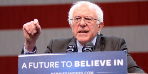 March 29, 2016 - Appleton, Wisconsin, USA - Vermont Senator and Democratic Presidential hopeful BERNIE SANDERS speaks to supporters during his campaign rally at the Fox Cities Performing Arts Center in Appleton, WI. (Credit Image: � Ricky Bassman via ZUMA Wire)