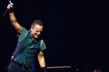 Musician Bruce Springsteen performs on stage at The Oracle Arena on March 13, 2016 in Oakland, California. (Photo by Chris Tuite/imageSPACE) *** Please Use Credit from Credit Field ***
