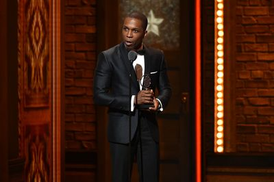 Leslie Odom Jr at the Tonys
