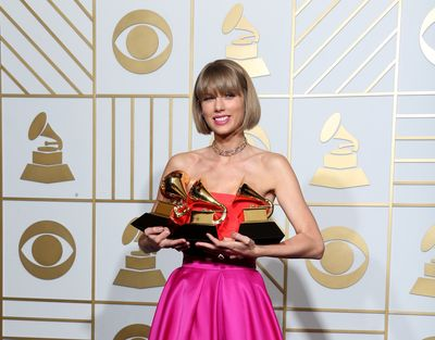 "Taylor Swift won three Grammys in 2016: Album of the Year and Best Pop Album for 1989, and Best Music Video for ""Bad Blood."""