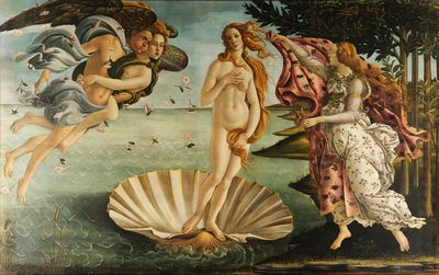 The Birth of Venus by Sandro Botticelli, 1483 to 1485.