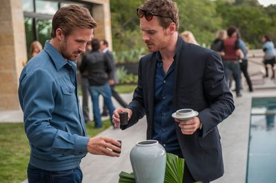 Ryan Gosling and Michael Fassbender in Song to Song