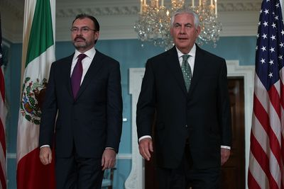 Secretary Of State Tillerson Meets With Mexican Foreign Secretary Luis Videgaray
